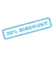 30 Percent Discount Text Rubber Stamp vector image