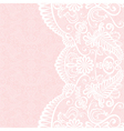 Background with white lace pattern vector image