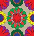 mosaic seamless floral pattern vector image