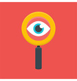 Search Magnifying Glass with Eye vector image
