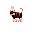 cat lover vector image vector image
