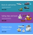 Ships And Boats Banners Set vector image