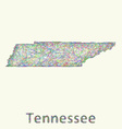 Tennessee line art map vector image