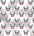 Angry Panda Seamless pattern of ferocious bears vector image