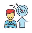 businessman business success goal target profit vector image