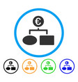 euro flow chart rounded icon vector image