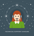 Flat design business concept Technical suppo vector image