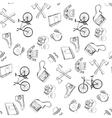 hand-drawn Hipster style pattern vector image