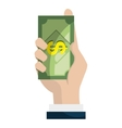 Money cash and business graphic design vector image