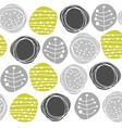 Retro pattern circles vector image
