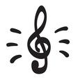 Violin key icon hand drawn icon vector image