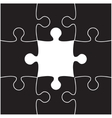 Black Puzzles Piece JigSaw - 9 Pieces vector image
