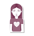silhouette teenager pulling a kiss vector image