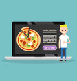 food delivery service conceptual young blond vector image
