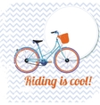 Riding is cool vector image vector image