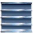 Metal Shelves vector image vector image