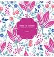 pink flowers frame seamless pattern vector image vector image