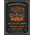 Typography Halloween Party Invitation vector image