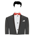 Festive suit with bow vector image