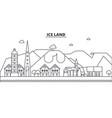Iceland architecture line skyline vector image