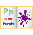 A picture of a purple splash in a book vector image