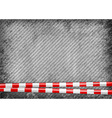 texture grain grey with red tape vector image vector image