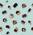chocolate concept icons pattern vector image