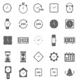 Time icons on white background vector image vector image