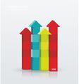 Arrow rising toward same direction success concept vector image