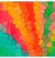 circular mosaic of stones vector image
