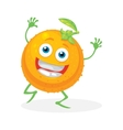 Cute orange on a white background character vector image