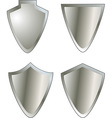 Set of shield icons vector image