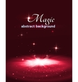 Magic stage background with smoke and stars vector image