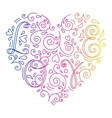 Doodle heart with letters vector image