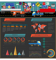 Cargo transportation infographics trucks lorry vector image