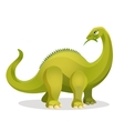 Diplodocus isolated on white Extinct genus of vector image
