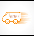 Express Delivery concept for increase the sell sto vector image
