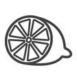 lemon line icon fruit and vitamin vector image
