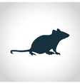 Mouse black silhouette vector image
