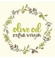 Olives labellogo drawn olive branches vector image