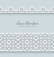 Paper frame with lace borders vector image