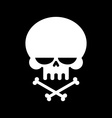 Skull and crossbones isolated skeleton head Sign vector image