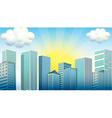 Sky scrapers in the city vector image