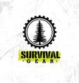 survival gear extreme outdoor adventure creative vector image