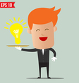 Waiter idea service - - EPS10 vector image