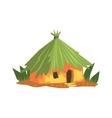 Primitive Tropical Building Jungle Landscape vector image