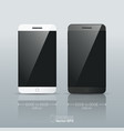 black and white Smart phone isolated vector image