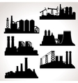 Set of Industrial Buildings vector image
