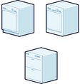 dishwashers vector image