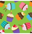 Pattern with cupcakes vector image vector image
